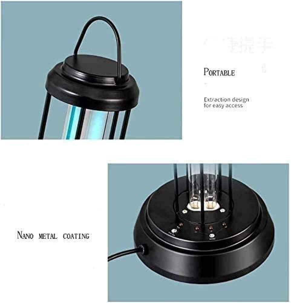 della Luce UV Sanitizer con ozono Modello, 38 Watt Disinfezione Lampada con germicida Telecomando Lampada UV sterilizzatore,Nero Black