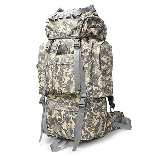 Rucksack Reise Super Capacity Travel Tactical Rucksack Camouflage Bergsteigen Tasche Schulter für Männer und Frauen, ACUB, 65L