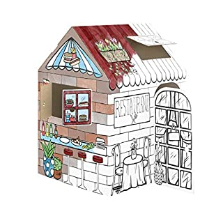 Bankers Box Play Treats 'N' Eats Playhouse, White, 1pk
