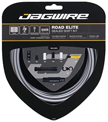 Jagwire Road Bike Elite Sealed Shift Gear Cable Kit - Frozen Grey by Jagwire
