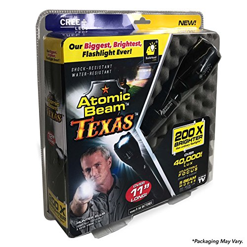 Atomic Beam Texas Tactical LED Flashlight by BulbHead – 5 Beam Modes & Adjustable Focus