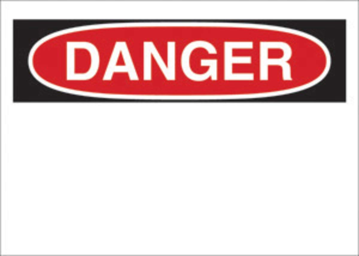 Brady 10'' X 14'' Black/Red On White .01'' B-101 Polycoated Tagstock Blank Sign''DANGER''