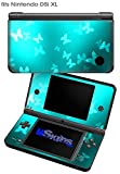 Bokeh Butterflies Neon Teal - Decal Style Skin fits Nintendo DSi XL (DSi SOLD SEPARATELY)