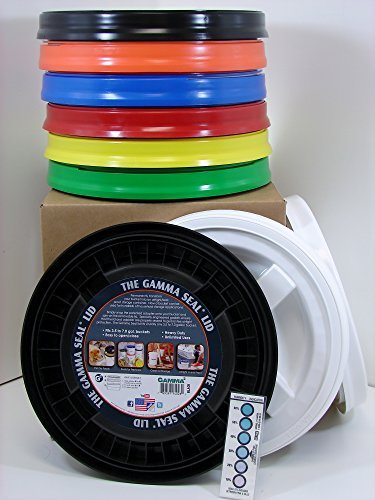 Gamma Seal Lid, Assorted Colors, - New! - Boxed! - 5 Gallon Bucket Lids (Fits 3.5, 5, 6, & 7 Gal.) Storage Container Lid by Gamma by Gamma