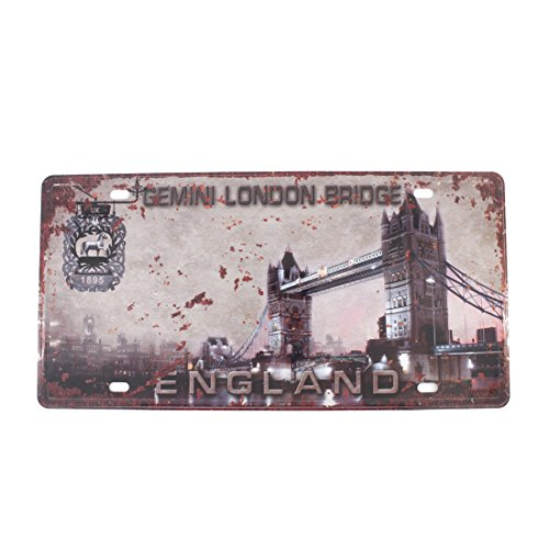 (6x12 Inches Vintage Feel Home,bathroom,shop and Bar Wall Decor Souvenir Metal Tin Sign Poster Plaque (ENGLAND UK LONDON BRIDGE))