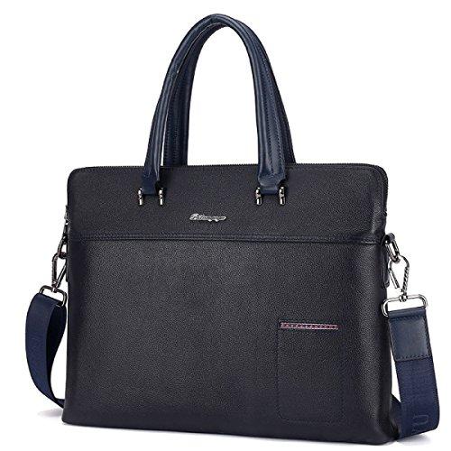 Hombres Maletín Bolso Cruz Sección Moda De Cuero Casual Bolsa De Hombro Messenger Bag Blue