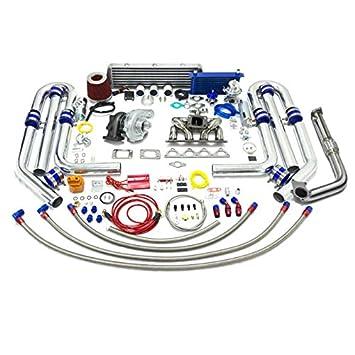 High Performance Upgrade T04E T3 22pc Turbo Kit - Honda D-Series Ram Horn Manifold