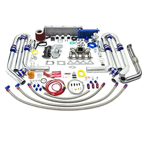 Crx Turbo Kits - High Performance Upgrade T04E T3 22pc Turbo Kit - Compatible with Honda D-Series Ram Horn Manifold