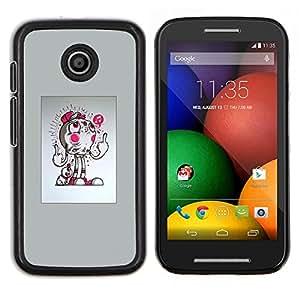 Caucho caso de Shell duro de la cubierta de accesorios de protección BY RAYDREAMMM - Motorola Moto E - Resumen del tirón