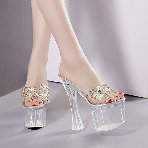 Thirty 18cm High Super Zapatillas Transparente y Donyyyy four Cool Heels 39 61UPznW