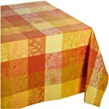 Garnier Thiebaut Mille Couleurs 100% two-ply twisted cotton 71-Inch by 118-Inch Tablecloth, Soleil, Made in France