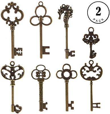 Amazon.com: Llavero de esqueleto, 16 piezas de llaves ...