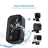 TELESIN Smart Wireless WIFI Remote Control with Wrist Strap for GoPro Hero, Hero 6 Hero 5 Black, Session Series, Hero 4, Hero 3+ Hero+ LCD, Fusion Cameras-1M Waterproof IP67
