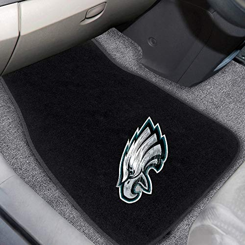 Black Philadelphia Eagles Car Mat Set 18