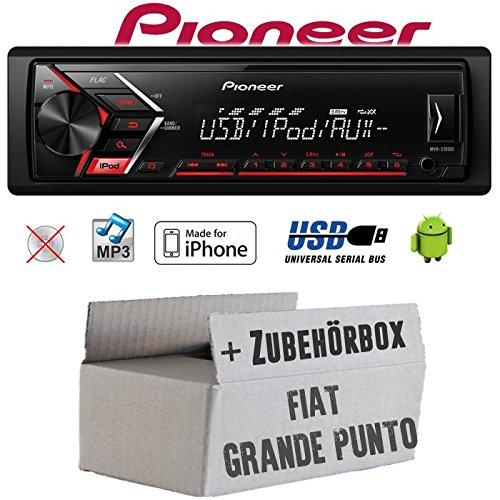 Einbauset f/ür FIAT Grande Punto 199 USB Android 4x50Watt JUST SOUND best choice for caraudio MP3 Einbauzubeh/ör Autoradio Radio JVC KD-X151