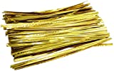 MiL 700pcs 6-inches Golden Metallic Twist Ties
