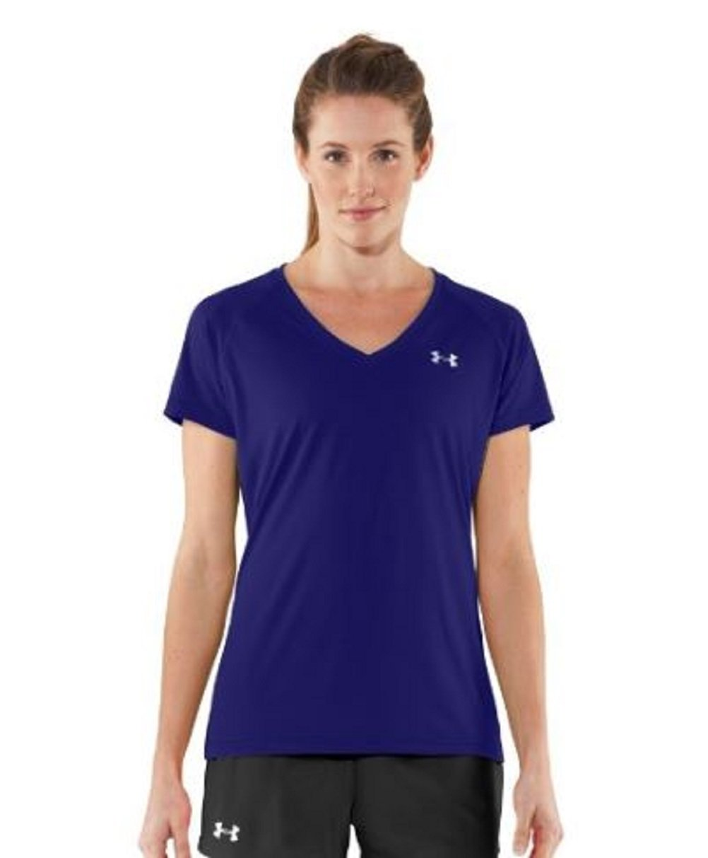 Under Armour Women's Short Sleeve V-Neck Tops (Extra-Small)
