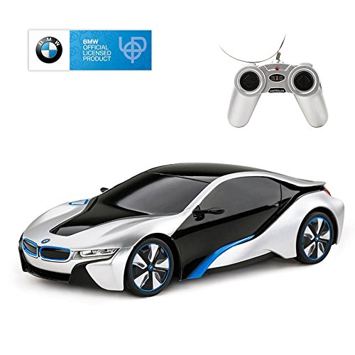 RASTAR BMW i8 RC Car BMW i8 1/24 Remote Control Car, 2019 BMW Toy Car - Silver from RASTAR