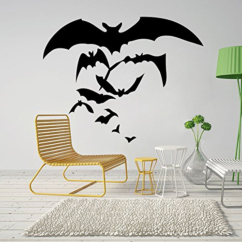 OTTATAT Wall Stickers for Bedroom Girls 2019,Happy Halloween Home Household Room Mural Decor Decal Removable New Easy to Stick Bridal Shower Couple Suite Gift for Bride