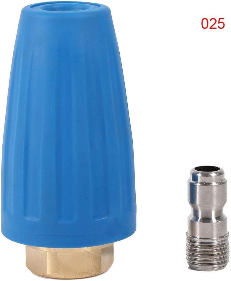 Limpiador de Alta presi/ón de conexi/ón r/ápida de 1//4Accesorio Spray Giratorio Auxiliar Boquilla Turbo Lavadora 3000PSI Boquilla Turbo Boquilla Turbo Lavadora Jingyi Boquilla Turbo #1
