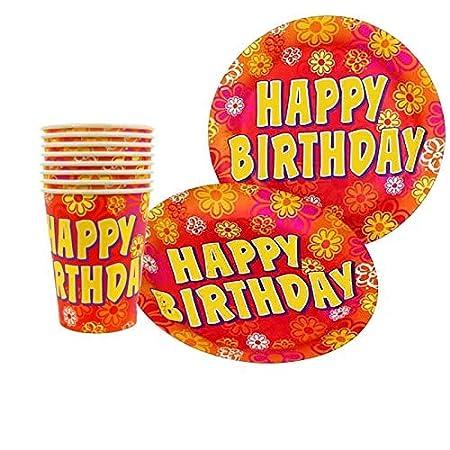 Riethmüller Happy Birthday Partido 8 Taza 0,25L y 8 Papp ...
