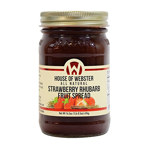 House of Webster Strawberry Rhubarb Fruit Spread - No Added Refined Sugar - 16.5 oz