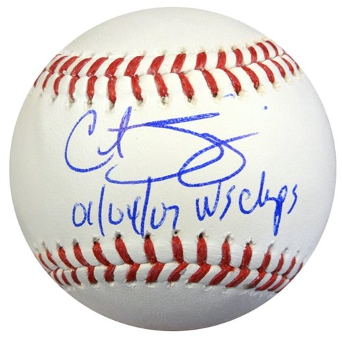 Curt Schilling Autographed/Hand Signed Official MLB Baseball Red Sox, Diamondbacks ''01/04/07 WS Cha