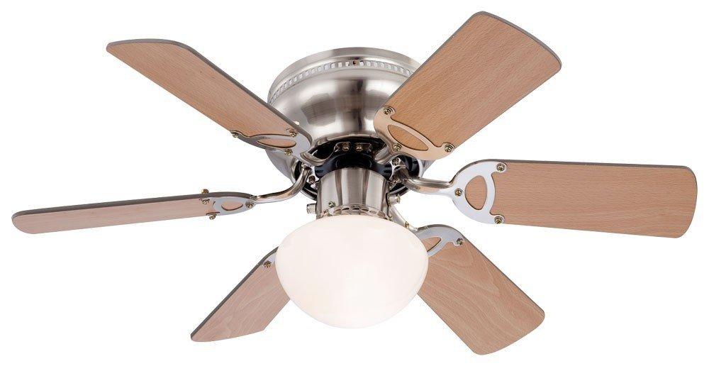 7 Watt Deckenventilator mit LED Beleuchtung und Zugschalter Ventilator Lampe [Energieklasse A+] etc-shop