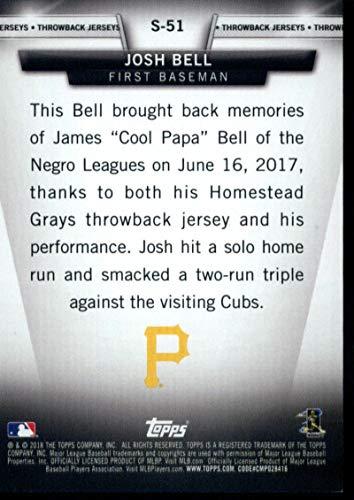 ded664895 Parallel Singles 2018 Topps Salute Series 2 Black #S-51 Josh Bell 295/299  Pirates Baseball MLB