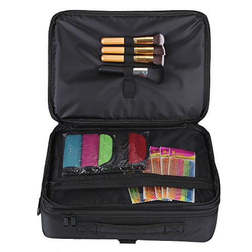 Hotrose Professhional Large Space Makeup Brush Bag - Cosmetic Artist Organizer Kit - Handle Shoulder Bag - Travel Box (Large) by Hotrose® (Image #2)