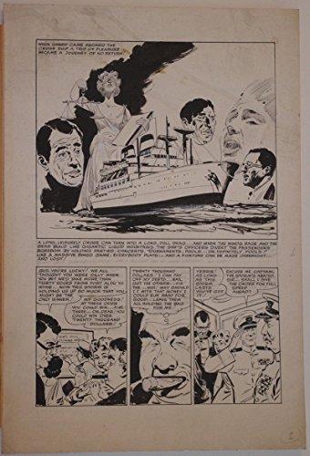 (JOE SIMON Studio / Estate original art, CRUISE SHIP, pg 1, circa 1950s, Aye Aye)