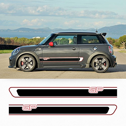 Mini Cooper R56 GP side stripes graphics deacal Rocker - Gp My