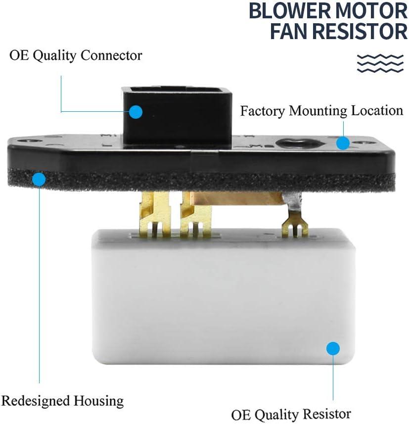 HVAC Blower Motor Fan Resistor for 1994-2007 Dodge Ram 1500 2500 3500 Pickup /& 1993-1999 Jeep Grand Cherokee 68004539AA 973020