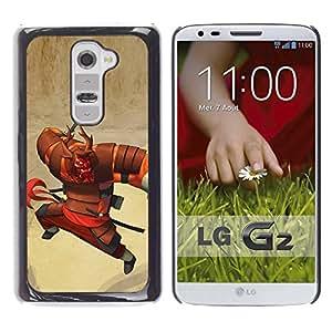 Be Good Phone Accessory // Dura Cáscara cubierta Protectora Caso Carcasa Funda de Protección para LG G2 D800 D802 D802TA D803 VS980 LS980 // samurai character cartoon Japanese warrio