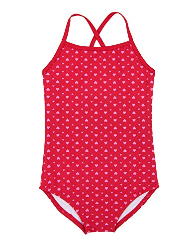 Leveret Kids Baby Boys Girls One Piece Swimsuit UPF 50+ Hearts Size 3 Toddler