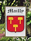 Mailly France Coat Of Arms Double Sided Garden Flag 12×19 Inches Review