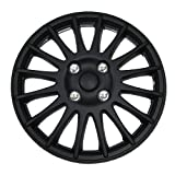 98 honda accord hubcaps - TuningPros WSC-611B15 Hubcaps Wheel Skin Cover 15-Inches Matte Black Set of 4