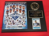 2015 Royals World Series Champions Collectors Clock Plaque w/8x10 Photo and Card