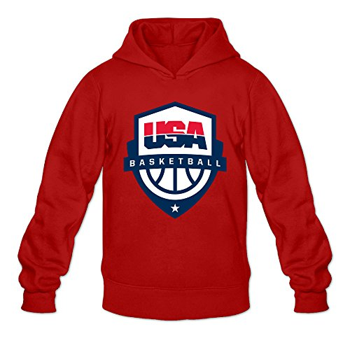 Invisible Man Costume 2016 (Fennessy Men's Hoodie USA Basketball Rio 2016 Size XXL Red)