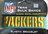 Green Bay Packers NFL official 2011 Super Bowl 45 Champions NFL extra wide bulky Bandz Bracelet