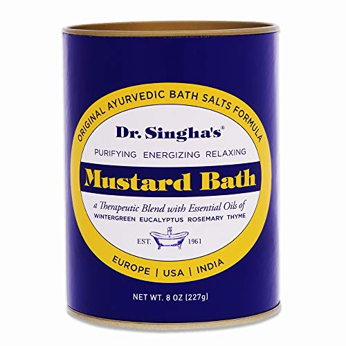 Dr. Singha's Mustard Bath, Therapeutic Bath Salts, 8 Ounce - Relaxing Bath Salts with Essential Oils For Sore Muscles