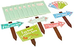 5 signs and 3 pairs of bunny footprints to mark the trail, plus 8 loot bags to collect the eggs. Brought to you by Talking Tables are a leading international supplier of fun and stylish party accessories. From flaming ice fountains to tantali...