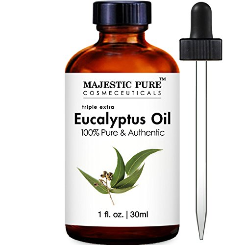 Majestic Pure Eucalyptus Essential Oil, 100% Pure and Natural Therapeutic Grade, 1 Fluid Ounce (Pure Eucalyptus Oil compare prices)