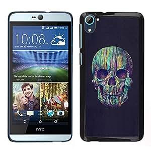 Stuss Case / Funda Carcasa protectora - Trullo gris Cráneo Vignette Muerte Púrpura - HTC Desire D826