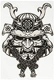 Divine Designs Japanese Samurai Demon MASK Grey