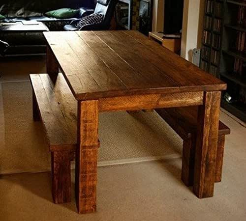 handmade farm table custom farm table 7 5ft with 2 matching 8696