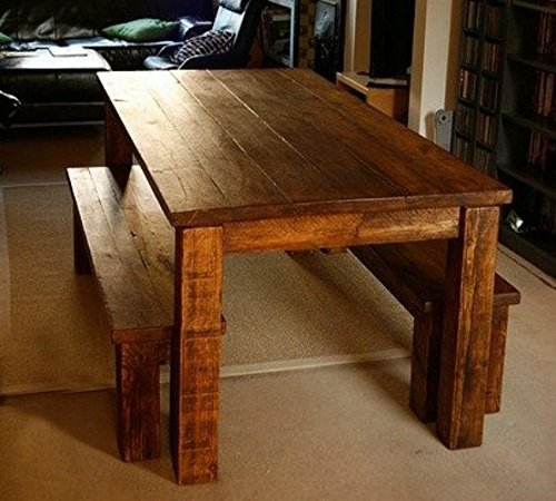 Genial Custom Farm Table 7.5Ft With 2 Matching Benches.