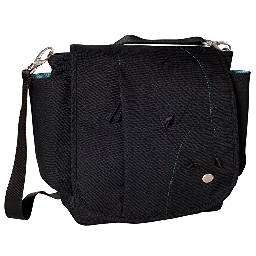 Haiku Women's To Go Convertible Eco-Friendly Crossbody Travel Messenger Bag, Black Juniper