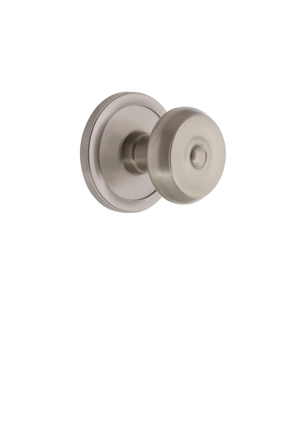 2.375 Grandeur 820189 Circulaire Rosette Privacy with Bouton Knob in Lifetime Brass