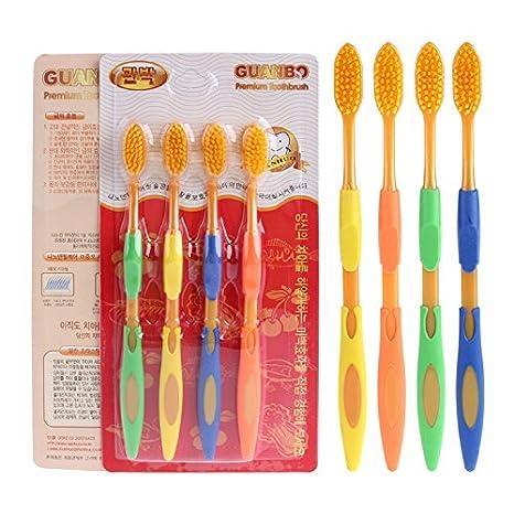 CWAIXX Una tienda todos los días De la exportación 4 Cepillo de dientes de oro Pack